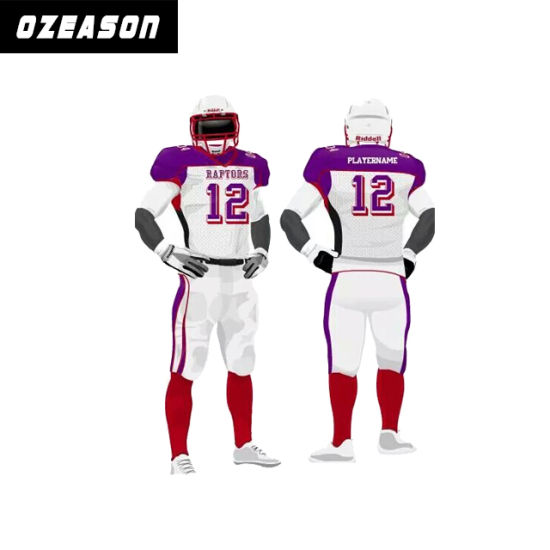 American Football Uniform Capless Sleeve Football Shirt