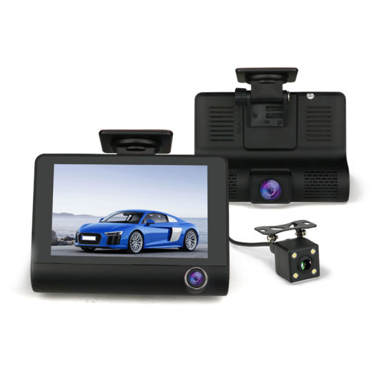 Black Box Dash Cam >> China 4 0 Inch Tft Screen Car Dash Cam With 3 Camera Front Inside