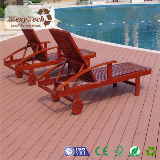 Outdoor Anti-Slip UV Resistant WPC Hard Wood Flooring for Swimming Pool pictures & photos