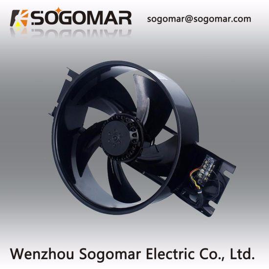 (250FZY6-D) 230V 2500rpm Dia 250 Axial Fan with Metal Blades