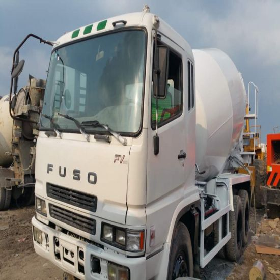 Used Fuso Mixer Truck Repainted White Color Used Concrete Mixer Truck