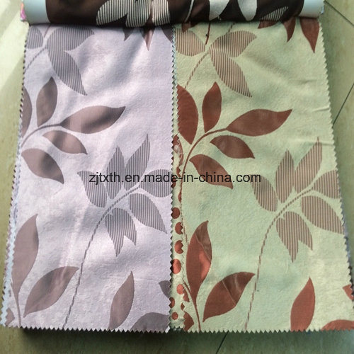 Modern Hot Sell Manufacturer Polyester Plain Jacquard Curtain Fabric pictures & photos