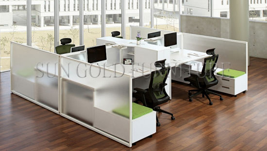 Durable and Color Customized Modern 120 Degree Workstation Desk (SZ-WS153) pictures & photos