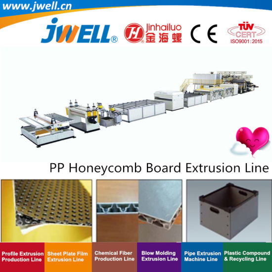 Jwell-PP Plastic Honeycomb Board Plate Sheet Recycling Agricultural Making Machine for Car Truck Cover Board|Trunk Clapboard|Trunk Carpet Substrate|Interior