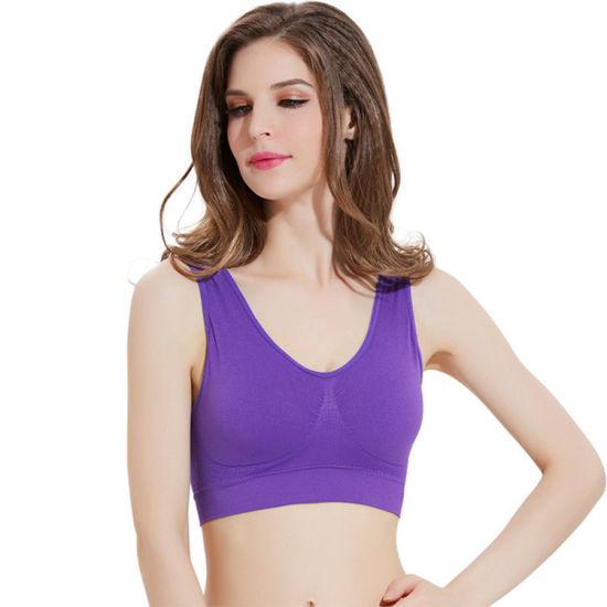 16c7c92062 Running Yoga up Full Figure Seamless Sport Bra for Women pictures & photos