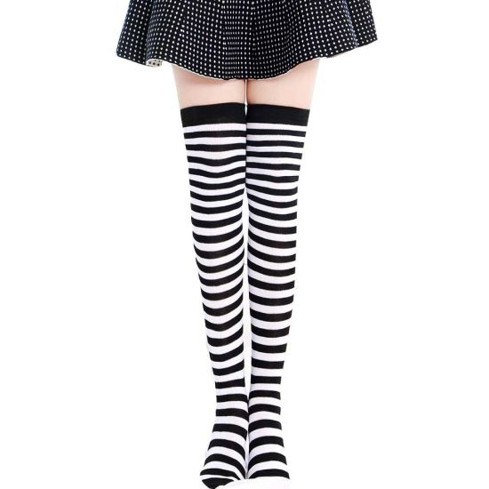 494324409 Girls Student School Socks Fashion Stockings Casual Thigh High Over Knee  High Socks Girls Womens Female Long Knee Sock