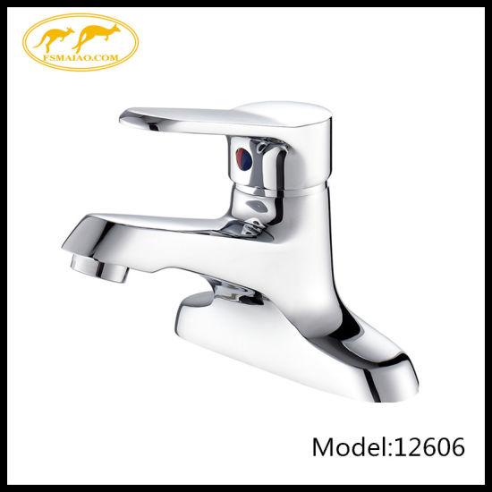 European Style Single Hole Bathroom Brass Chorme Vanity Basin Faucet (12606)