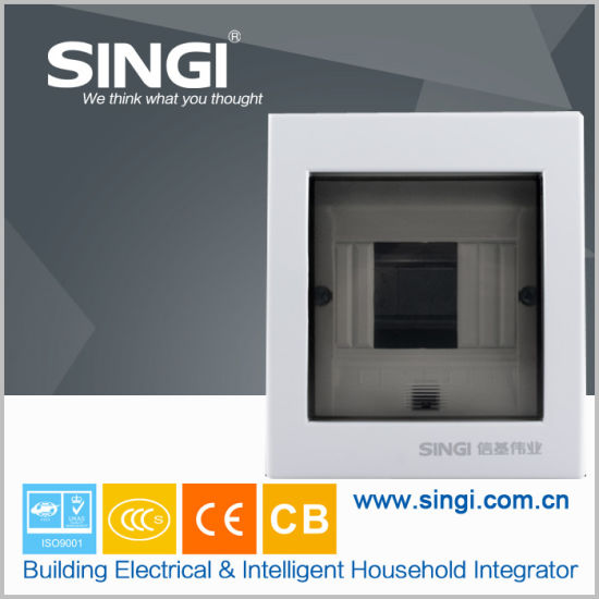 Ce Approved 4 Ways Metal Lighting Distribution Box with ABS Over