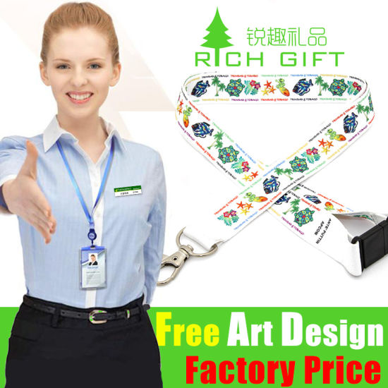 Custom Cord Sport Game Polyester/Sublimation Lanyard at Factory Price