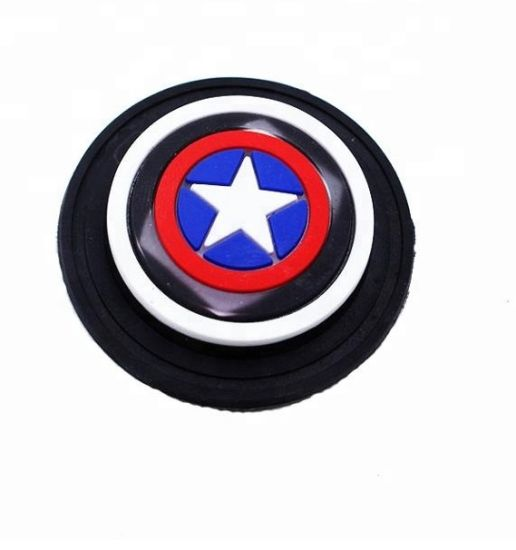 Custom Rubber Cartoon LED Lighting Silicone Children Captain 3D Patch Label Garment Accessories Gift pictures & photos
