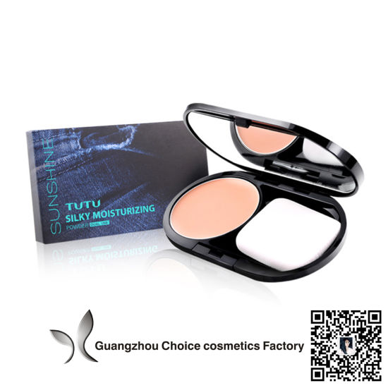 Makeup Concealer Full Coverage Face Powder Waterproof Makeup Compact Powder Makeup Pressed Powder for Dark Skin pictures & photos