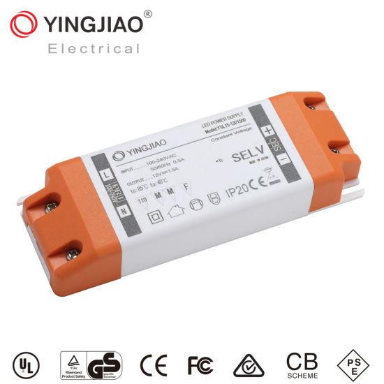 China Factory 15W/20W/40W/60W 220V/IP65/12V 1A/1.5A/2A AC/DC LED Power Supply (Ce UL TUV RoHS)