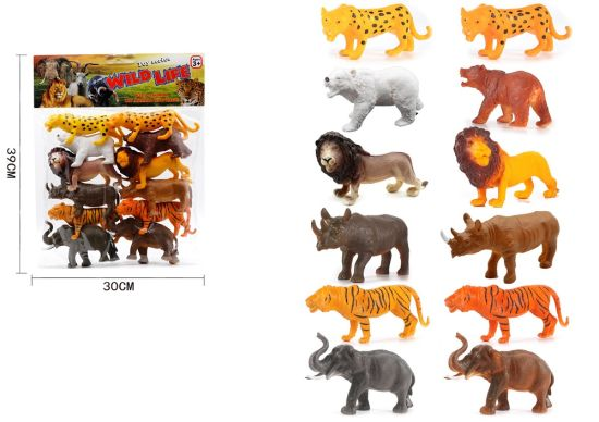 Animal Figure Toy Realistic Wild Vinyl Plastic Animal Learning Party Favors Toy for Kids H8299054