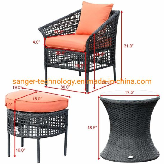 Terrific China 5Pcs Patio Rattan Sofa Ottoman Furniture Set Outdoor Uwap Interior Chair Design Uwaporg