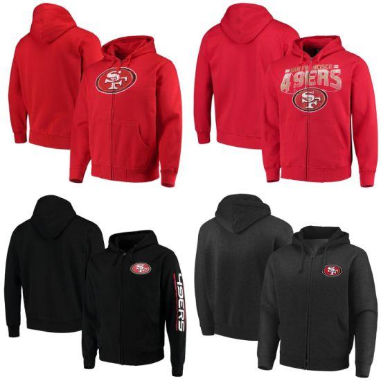 49ers Post Route Cap Primary Logo Perfect Season Full-Zip Hoodies