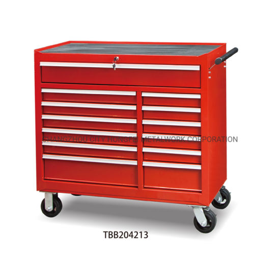 Rubber Grip Side Handles 42 Inches Metal Tool Box