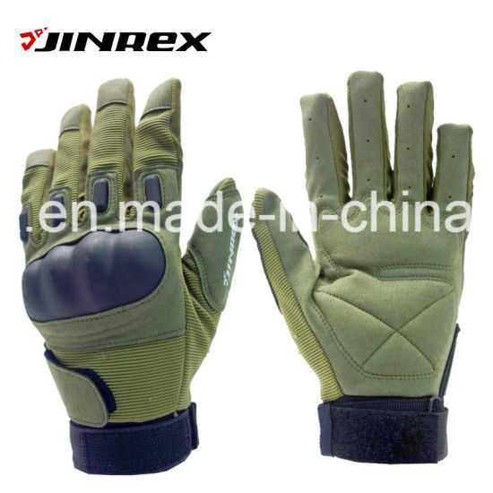 Cycling Full Finger Motorcycle Sports Glove Gel Padding Military Glove