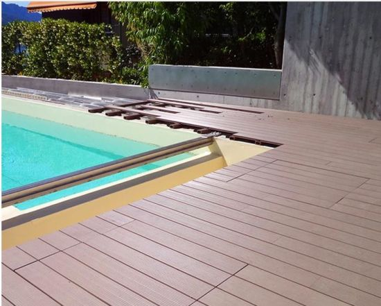 Fireproof 140X25 Outdoor Laminate Engineered WPC Decking Flooring pictures & photos