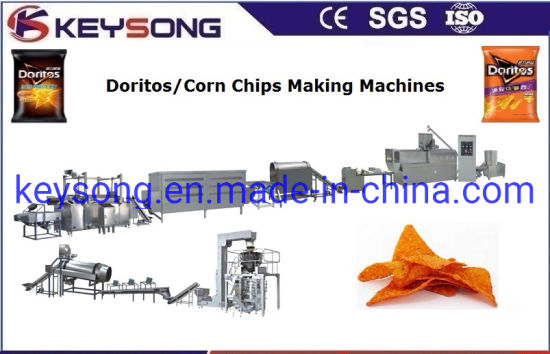 Food Processing Line Equipment Automatic Doritos Corn Chips Making Machinery pictures & photos