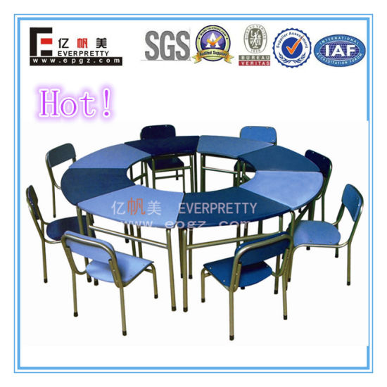 8 Seater Kids Round Reading Table And Chair Sf 01k