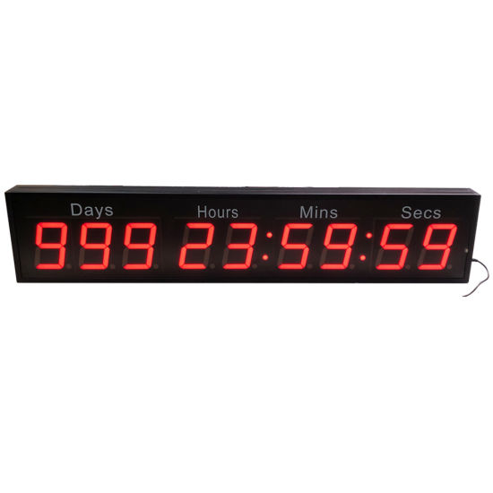 """Programmable Red 2.3"""" 9 Digit 1000 Days LED Countdown Timer"""