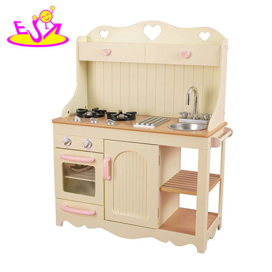 New Hottest Toys Pretend Play Funny Wooden Kitchen Set For Kids W10c319