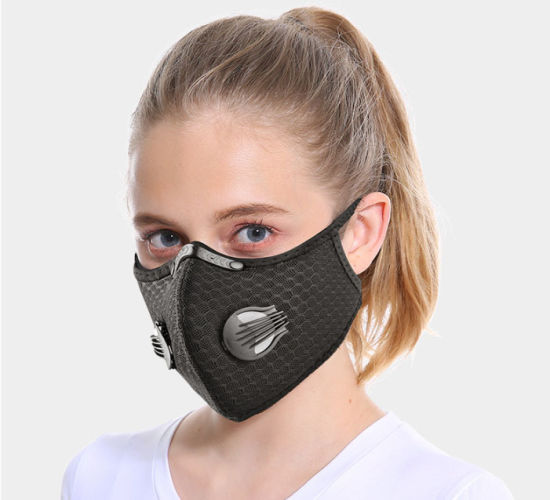 Protective/Safety Washable Reusable Colorful Outdoor Dust Cycling Filter Half Face Sport Mask
