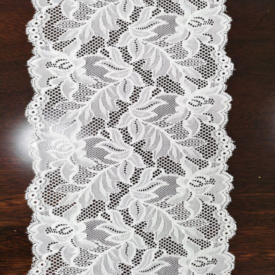 2020 Nylon Spandex Gallon Lace Trim Fabric with Straight Edge