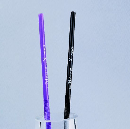 Custome Imprinted Straw Logo Printed Straws Cunstomizable Drinking Straws pictures & photos