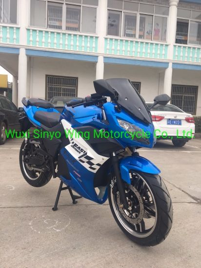 Best Skyline Blue Color with Lithium Battery E-Motorcycle, E-Bike and E-Scooter, Racing Motorcycle pictures & photos