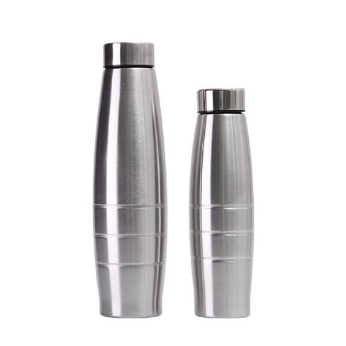 2019 Wholesale Single Wall High Quality Stainless Steel Vacuum Flask Rolling Steel Olive Shape Water Bottle Sports Pot Kettle