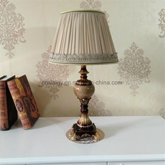 Polyresin Cloth Table Lamps Table Light for Bedside Hotel Hoem Decoration pictures & photos