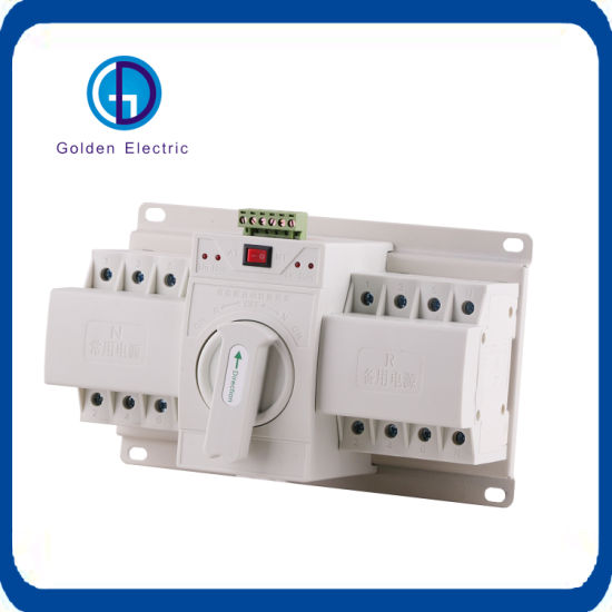 Electric Dual Power Automatic 4 Pole Changeover Switch From 1A to 63A pictures & photos