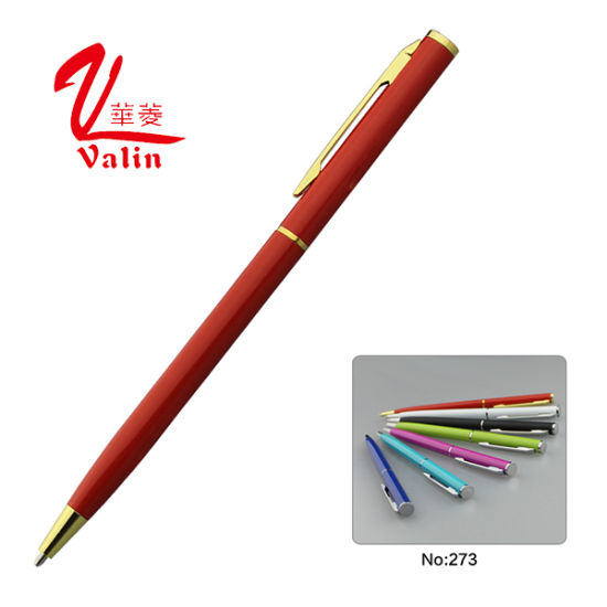 Luxurious Office Pen Slim Hotel Metal Ball Pen on Sell pictures & photos