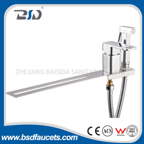 Square Heavy Design Brass Bathroom Bath Shower Faucet Mixer Chrome pictures & photos