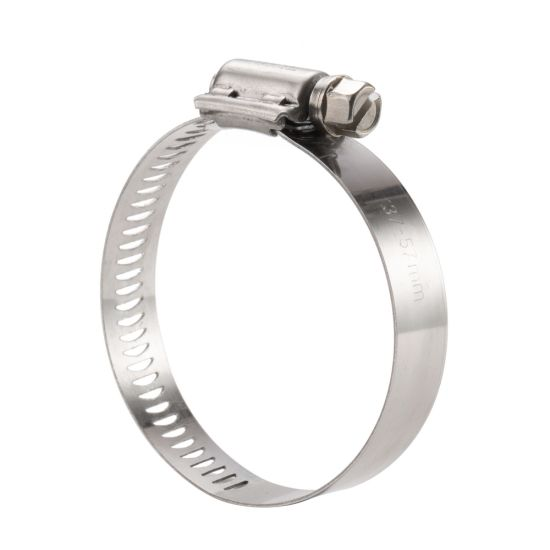 China Factory Stainless Steel American Worm Type Hose Clamp European Type Perforated Band Heavy Duty High Pressure Pipe Clamp