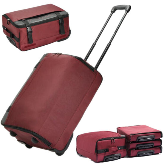 China Foldable Rolling Wheel Trolley Travel Duffel Sport Bag China