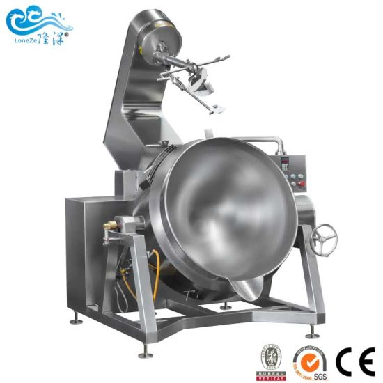 Stainless Steel Industrial Automatic Gas Heating Tilting Jacketed Kettle