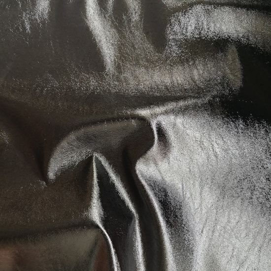 0.6 mm Thick PU Garments Leather Fabric, Poly Backing. pictures & photos