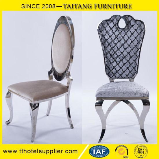 Hotel Use Wedding Banquet Stainless Steel Dining Chair pictures & photos