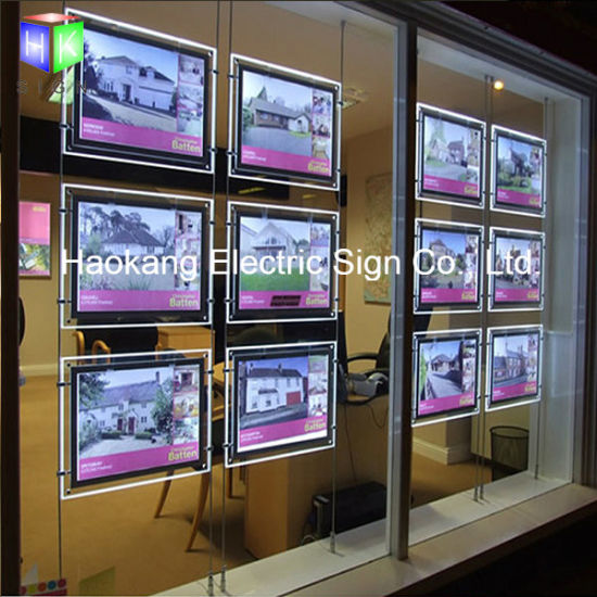 Double Side LED Acrylic Board for Real Estate pictures & photos