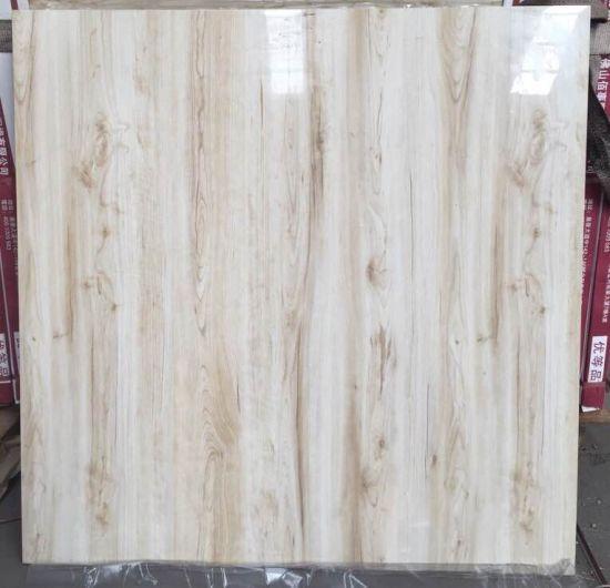 Wood Grain Porcelain Floor Tile Of White Body