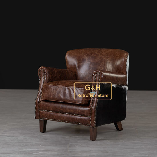 Designer Furniture Hotel Leather Hola Dining Chair with Arm for Restaurant