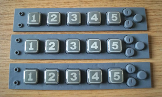 Numeric Button/OEM Rubber Numeric Button/Silicone Rubber Keypad with Plastic Cover (P+R) pictures & photos