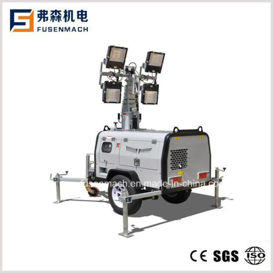 LED Lamp Hydraulic Mast Trailer Lighting Tower Lt61c pictures & photos