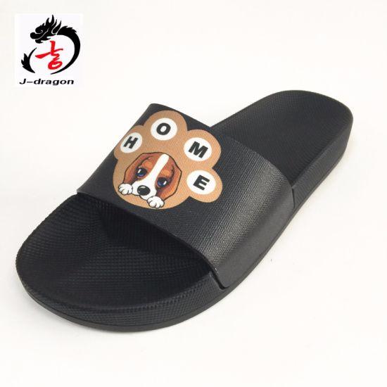 640396735bfa Newest Customized Logo PU Slide Sandal Men′s PU Slipper Men′s Sports Sandal