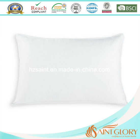 Luxury Homeuse Bedding Neck Pillow with White Goose Duck Down Filling pictures & photos