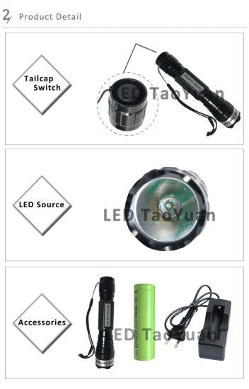 Blue LED Torch Flashlight Uses 3W