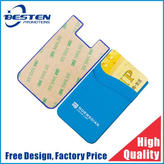 China Supplier Wholesale 3m Sticker Silicone Mobile Phone Card Holder