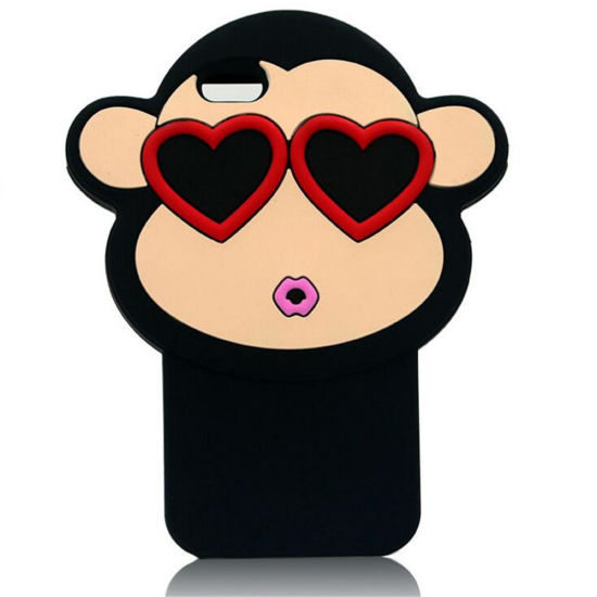 Monkey Wear Glasses Cartoon Silicone Case Cover
